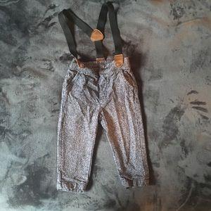 Gymboree dress pants with suspenders